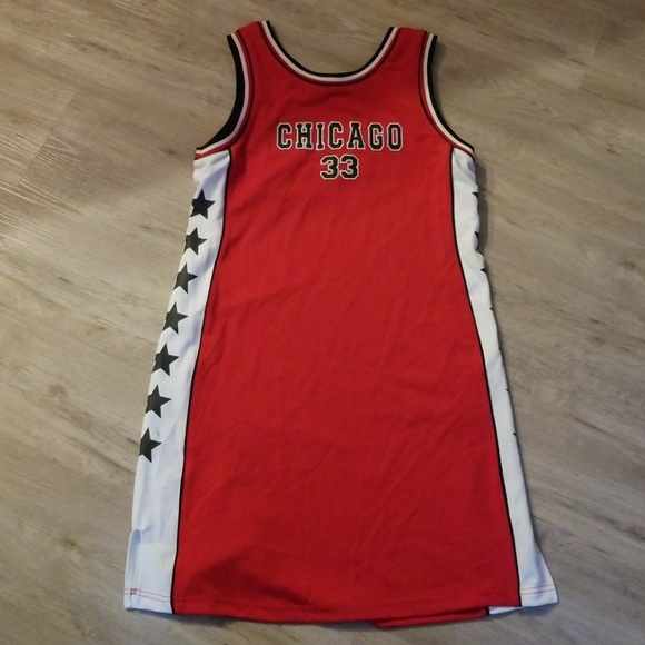 low priced 263b3 ad125 Chicago Bulls Basketball Jersey Tank Dress NWT
